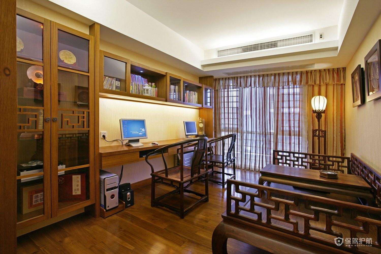 古典中式别墅书房装修效果图