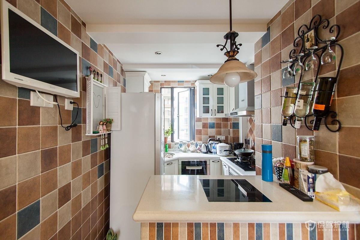 70平地中海風格二居室廚房裝修效果圖…
