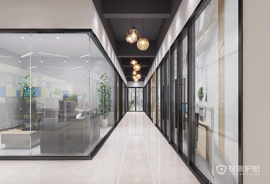 北欧风格办公室走廊装修效果图