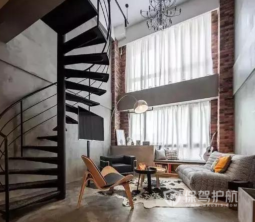loft單身公寓如何裝修?45平米工業風格loft公寓裝修案例