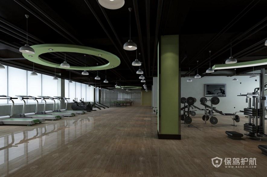 现代办公室健身房装修效果图