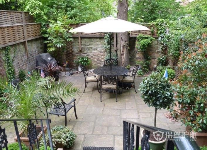 鄉村田園風復式樓庭院花園樓梯裝修效…