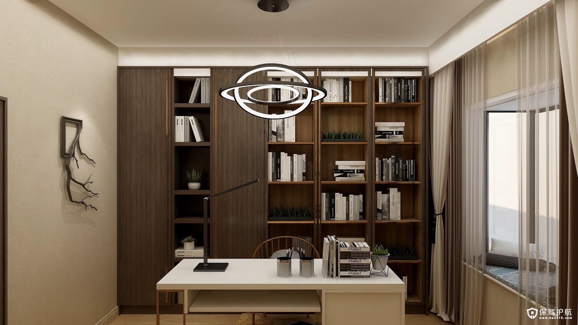 碧桂园现代风格三居室精装房改造效果图