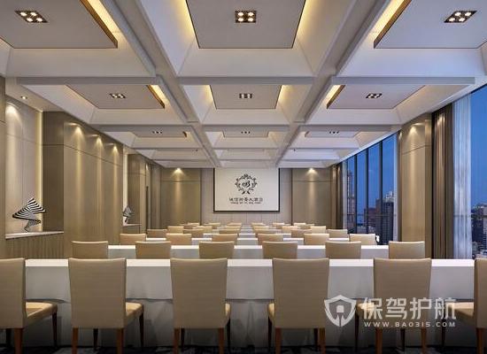 90平米現代風格酒店會議室裝修效果圖…