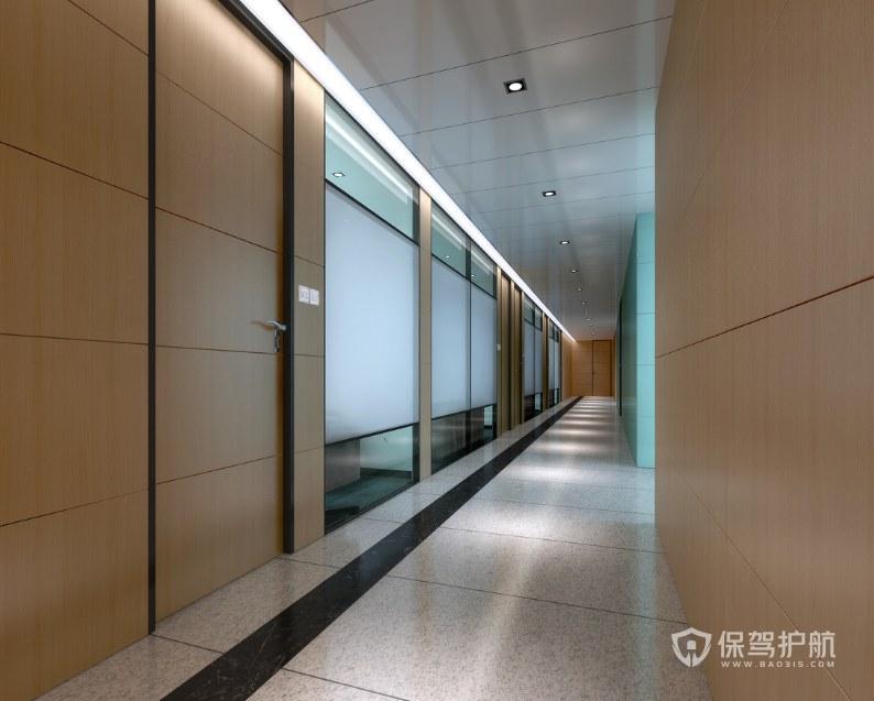 后现代办公室走廊装修效果图