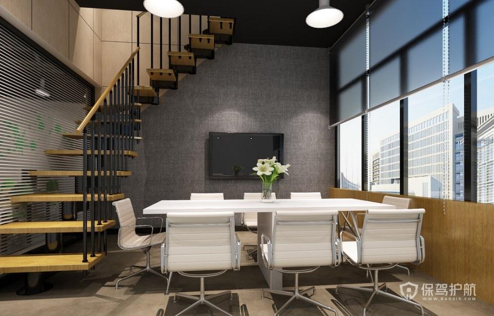 复式办公室会议区装修效果图