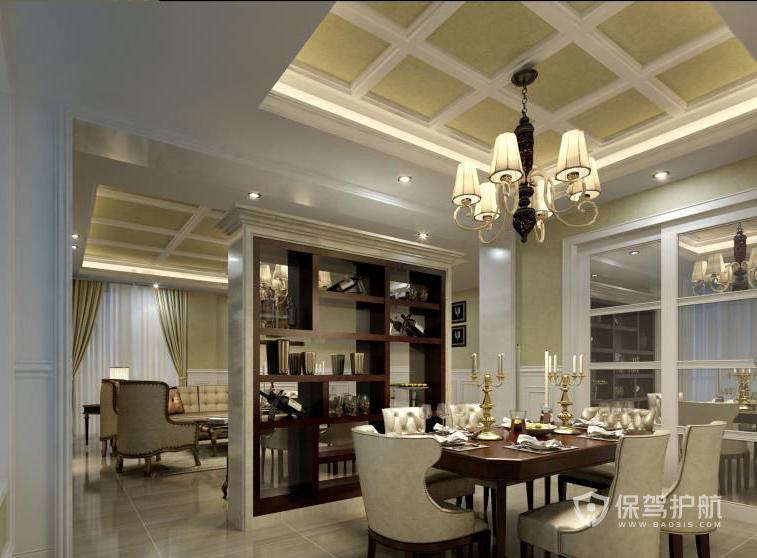 160平歐式四居室餐廳吊頂裝修效果圖…