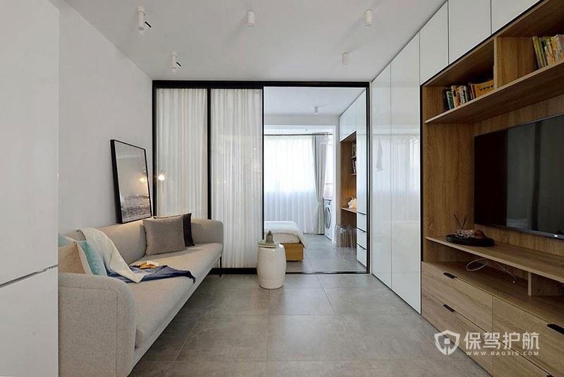 50平北欧风单身公寓客厅亚搏体育平台app效果图