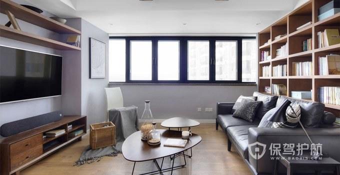 60平北欧风两居室客厅装修效果图