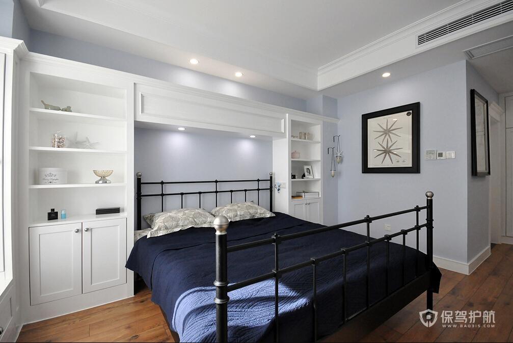 110平簡約美式三居室臥室裝修效果圖…