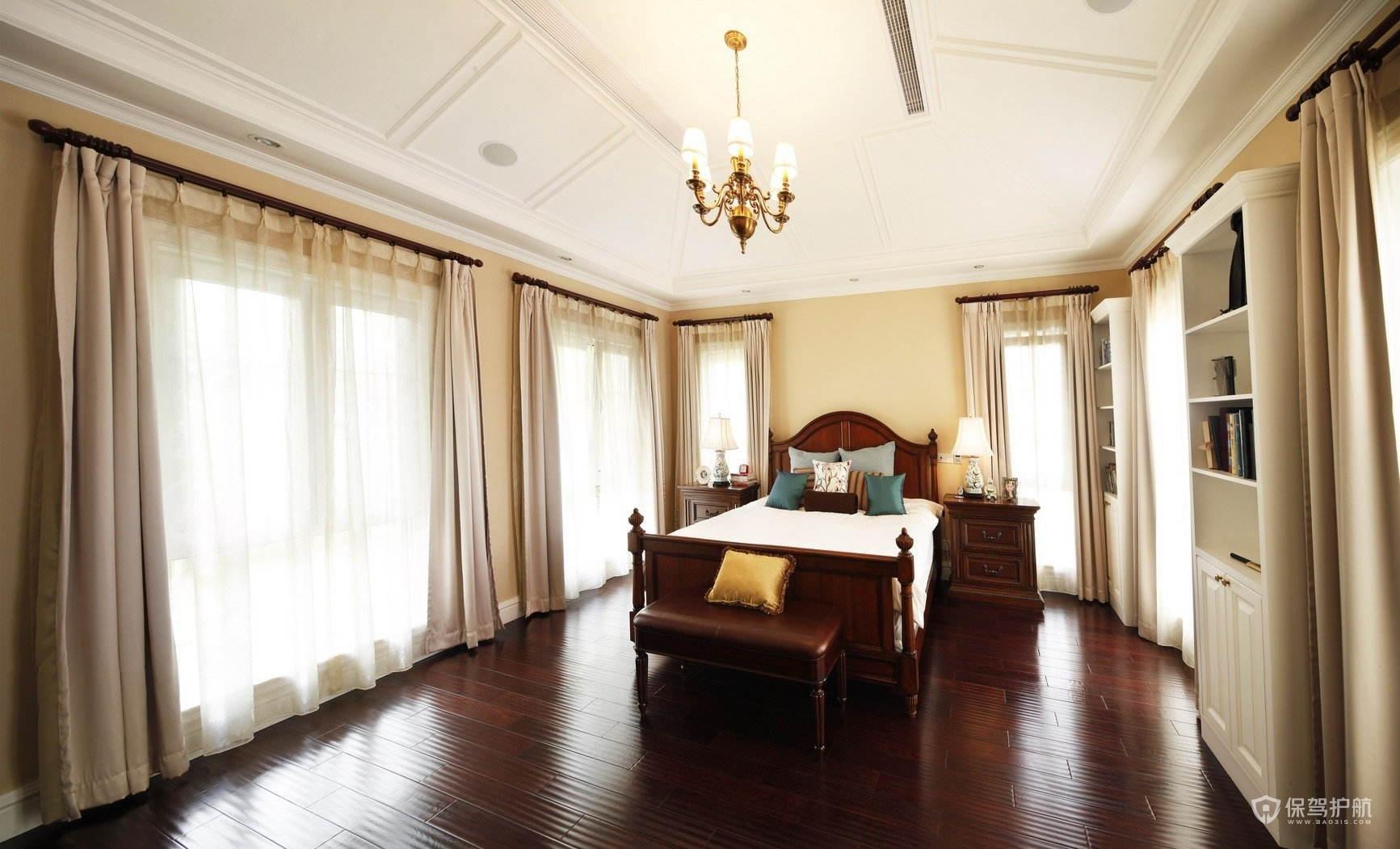 古典美式別墅臥室裝修效果圖