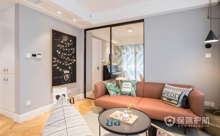 96平实用北欧风三居室客厅装修效果图