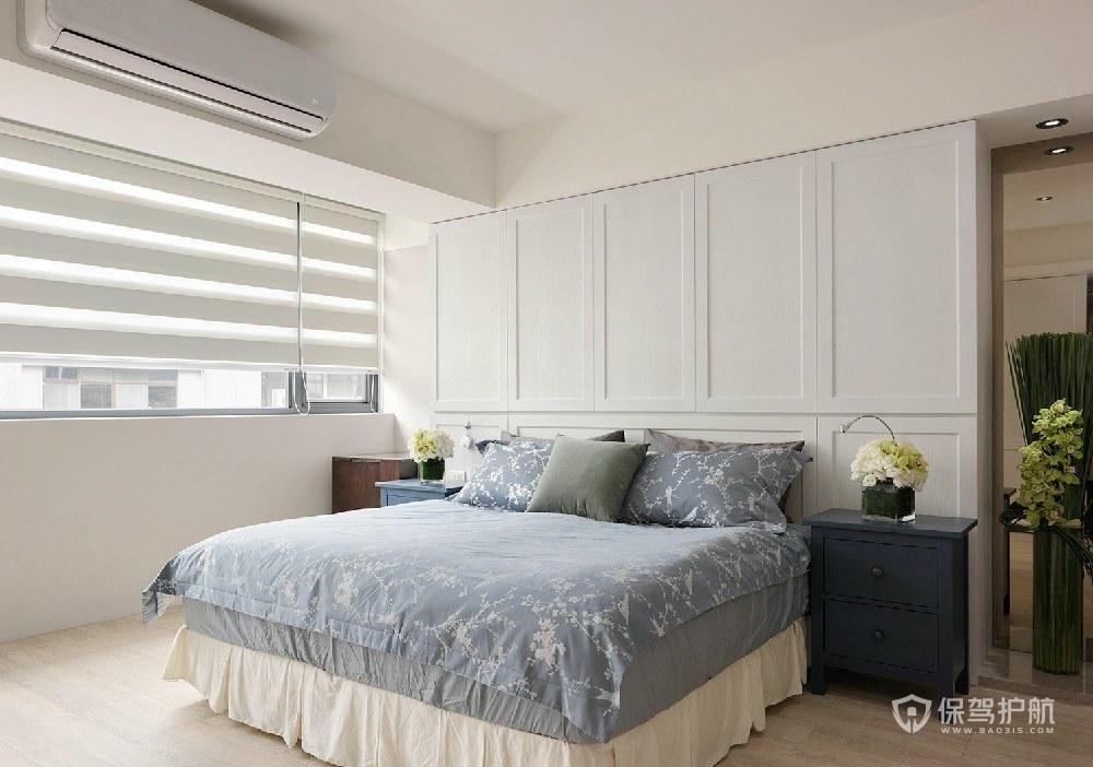 90平簡約北歐風三居室臥室裝修效果圖…
