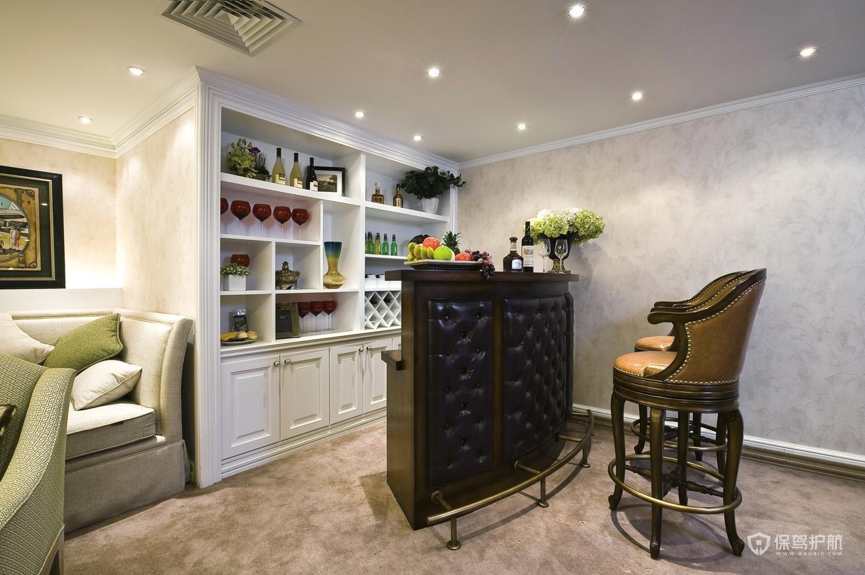 客厅吧台酒柜一体设计技巧 客厅吧台酒柜一体效果图
