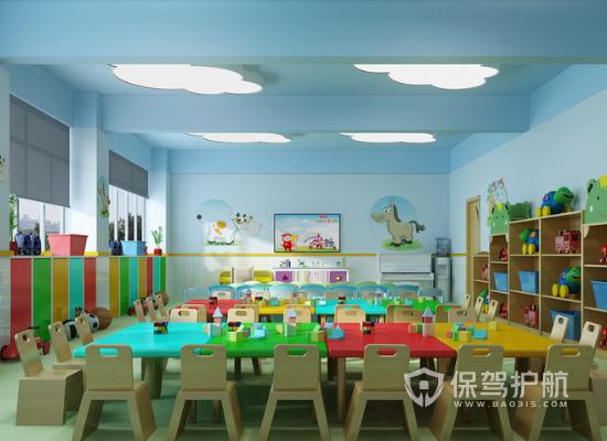 81平米現代風格幼兒園裝修效果圖