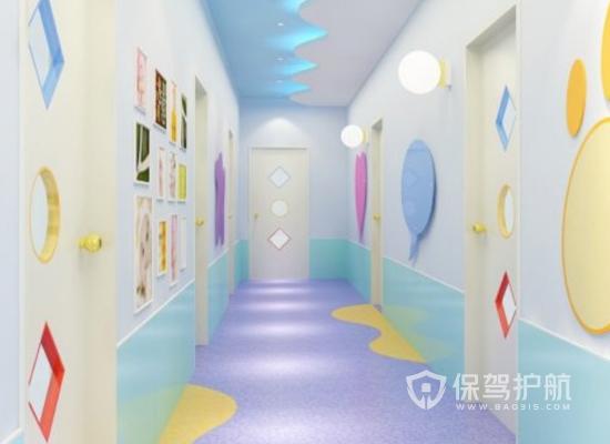 166平米簡約風格幼兒園走廊裝修效果…