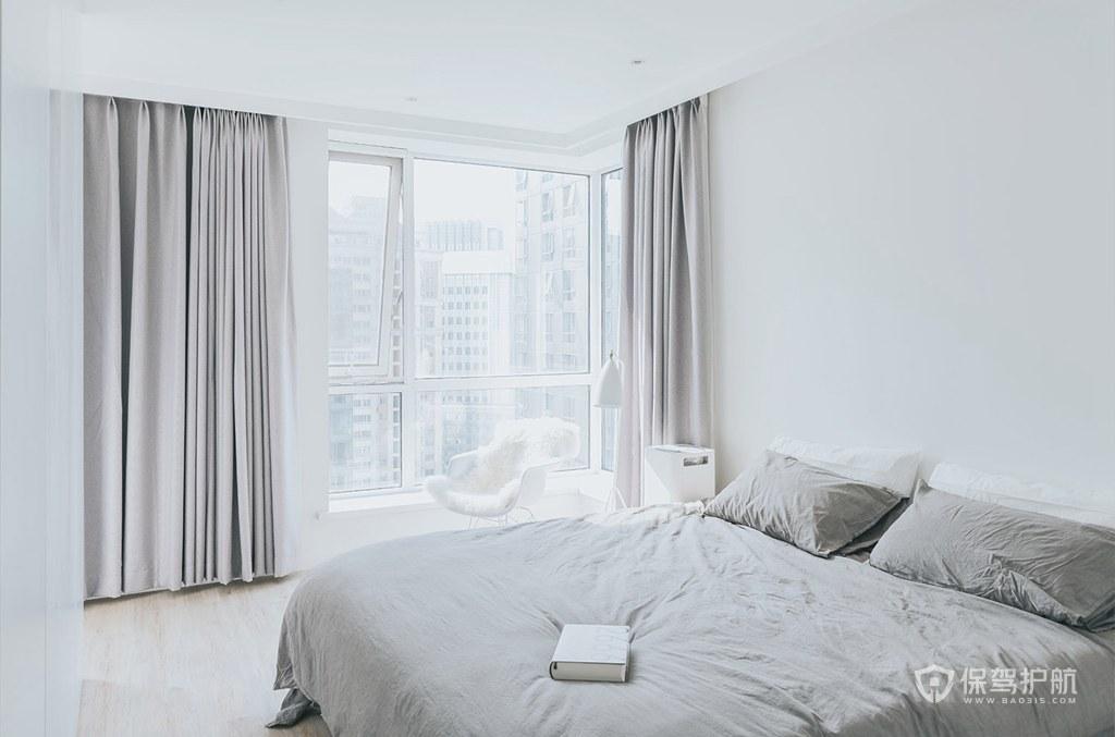 120平簡約北歐風四居室臥室裝修效果…