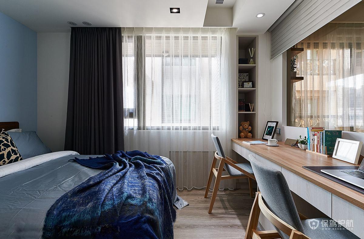 簡約北歐風三居室臥室裝修效果圖