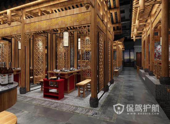 中式风格火锅店如何设计?中式风格火锅店装修案例