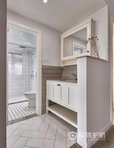 日式原木輕奢風衛生間創意浴室柜裝修效果圖