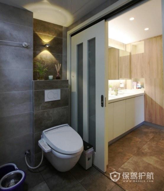現代日式典雅風衛生間隔斷門裝修效果…