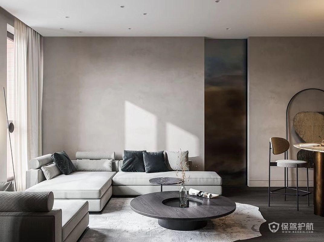 110平極簡風二居客廳裝修效果圖