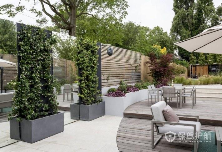 庭院風水墻設計效果圖-保駕護航