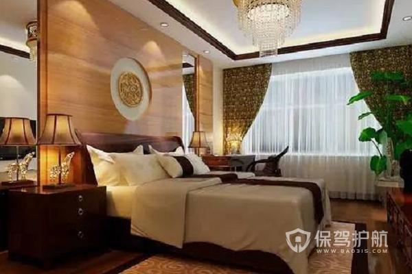 新中式臥室設計效果圖-保駕護航裝修網