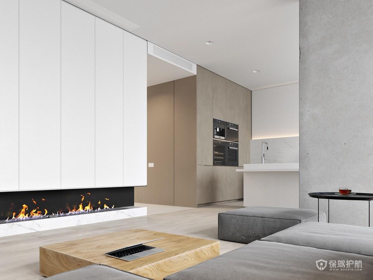 極簡風格三居室客廳裝修效果圖
