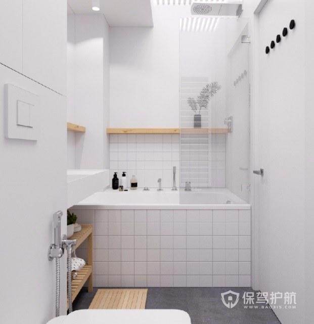 小戶型簡約日式風衛生間浴缸裝修效果圖