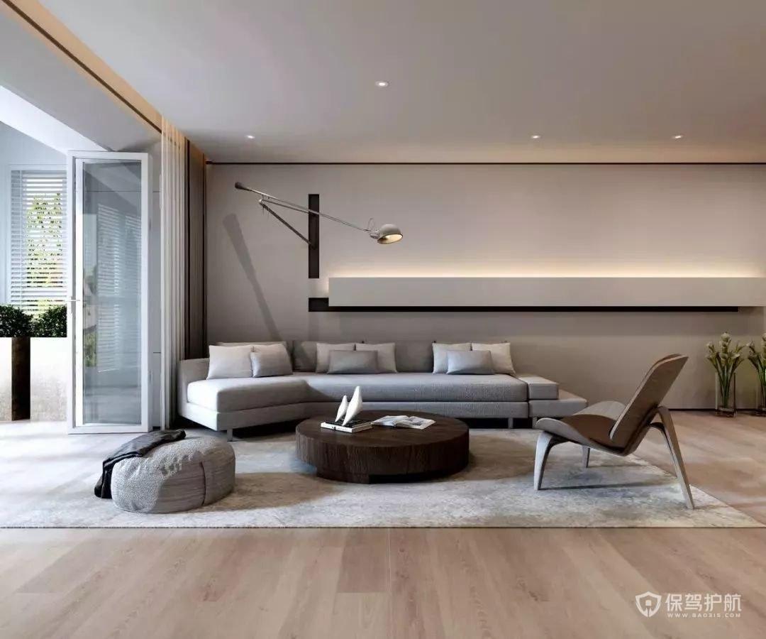 現代極簡風別墅客廳裝修效果圖