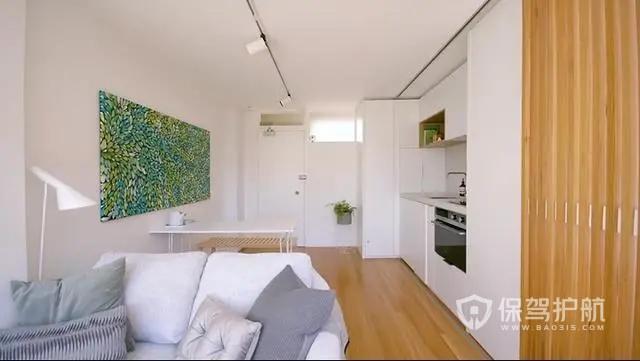 24㎡迷你单身公寓装修设计,卧室厨房随意切换模式,创意无限!