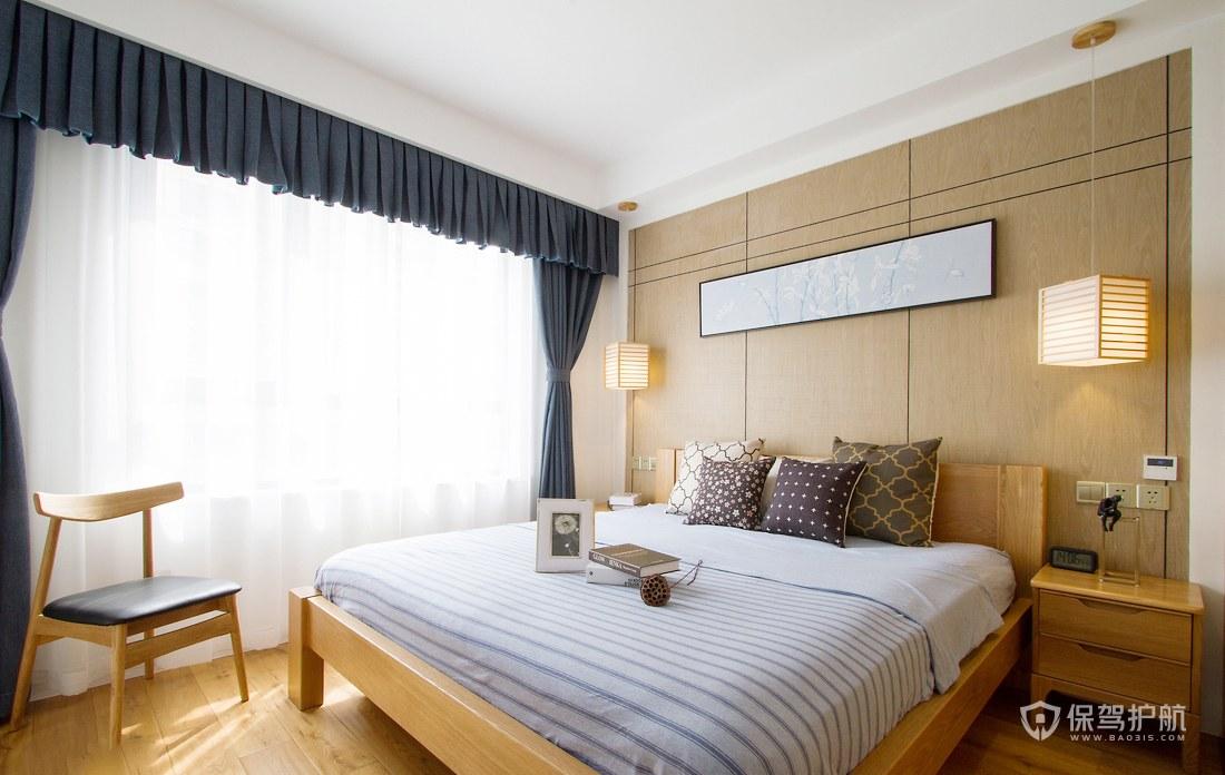 100平素雅日式风二居室卧室装修效果图