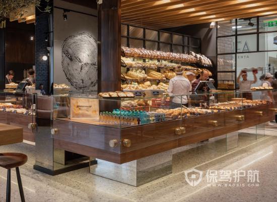 113平米日式風格蛋糕店商品柜設計效…