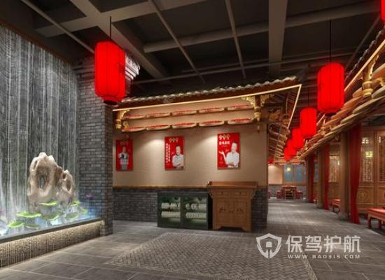 中式火鍋店裝修注意事項 中式復古風格火鍋店裝修案例