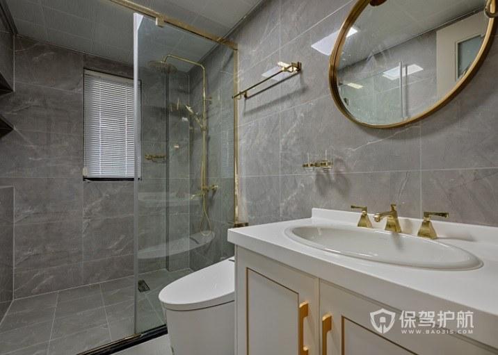 北歐極簡輕奢風衛生間浴室柜裝修效果圖