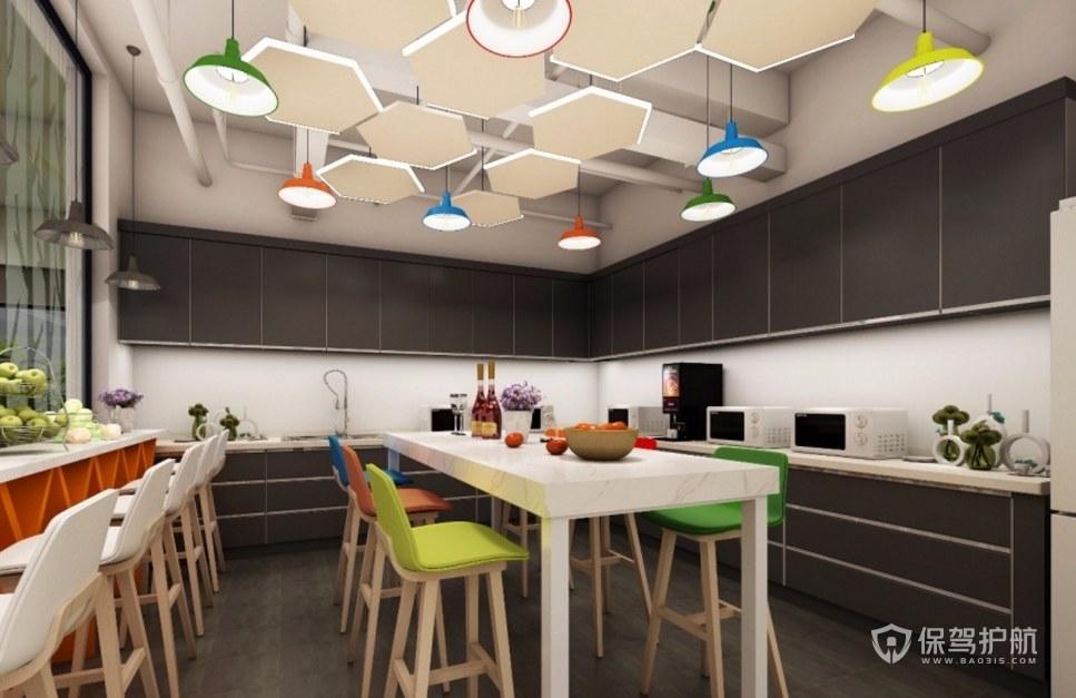 现代创意办公室茶水区装修效果图