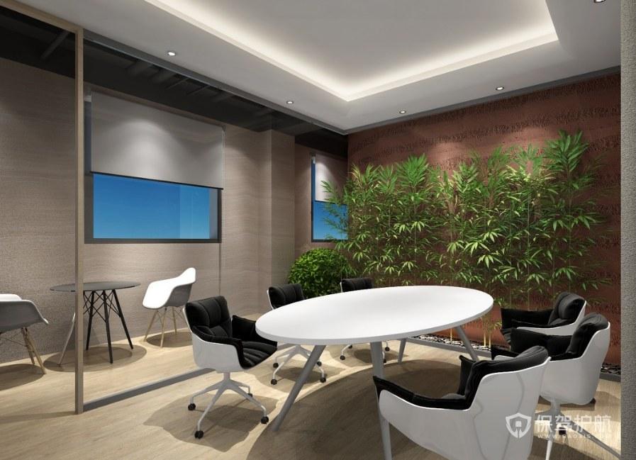现代风格办公洽谈室装修效果图