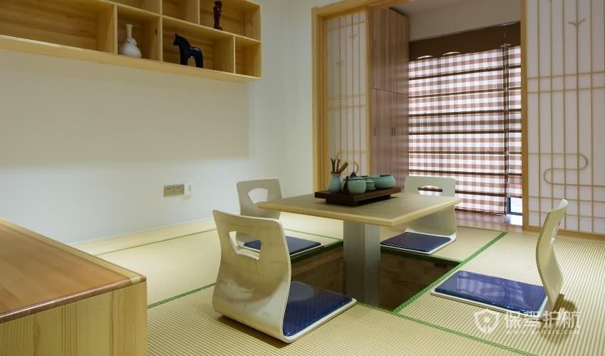 日式風格三房書房榻榻米裝修效果圖