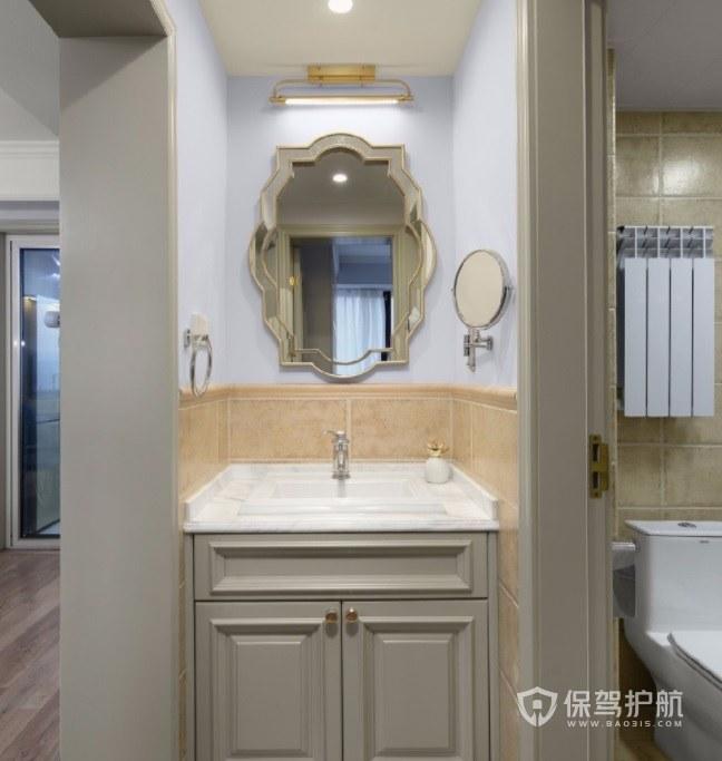 小美式舒适卫生间洗手台装修效果图