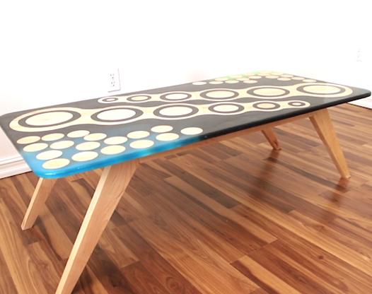 動手自制實木環氧樹脂桌