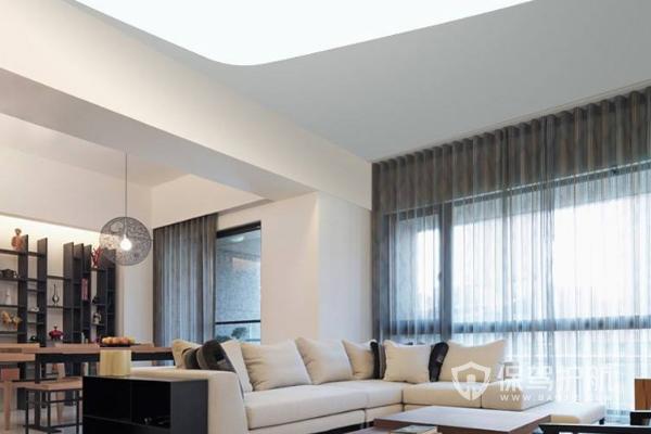 客厅吸顶灯安装效果-保驾护航装修网