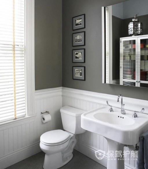 小户型简约小美式卫生间防水墙漆装修效果图