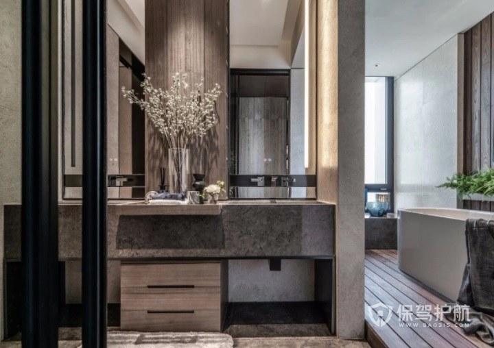 北欧时尚高级卫生间洗手台装修效果图