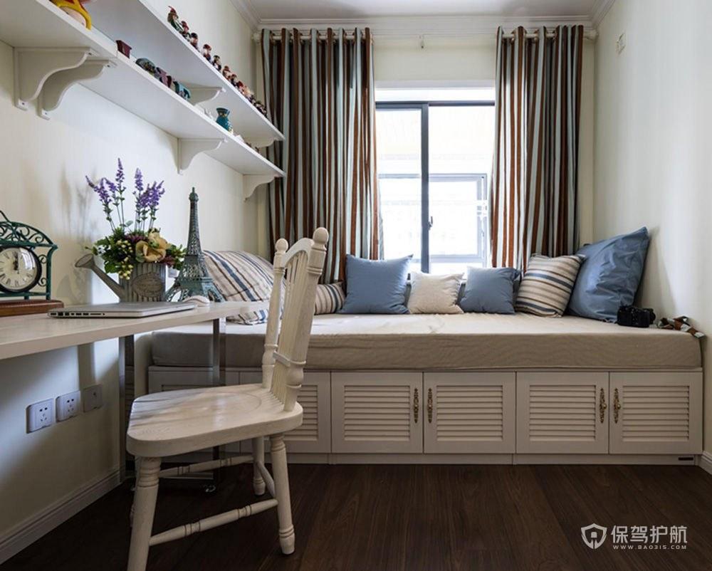 優雅地中海風格三居室兒童房裝修效果…