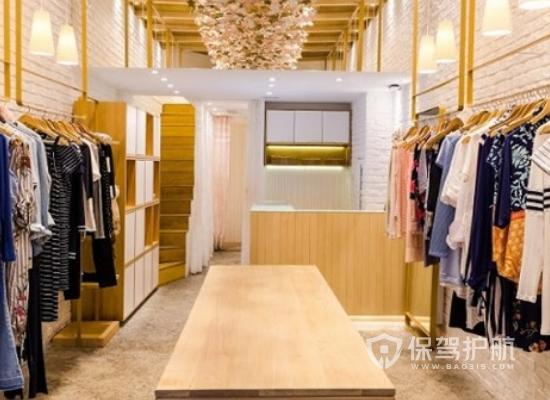 28平米原木風格服裝店裝修效果圖