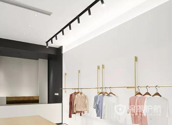 35平米簡約風格服裝店吊頂裝修效果圖…