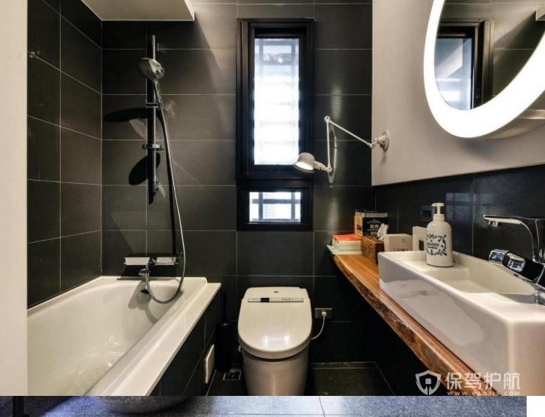 现代复古工业风创意卫生间浴室镜装修效果图
