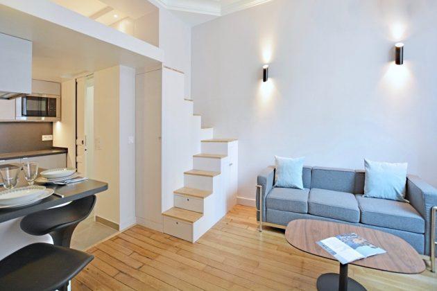 25㎡公寓装修改造,设计师架空多出8㎡,面积小功能超级全