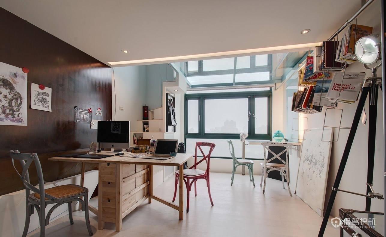 北欧风格loft创意书房装修效果图